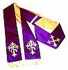 Confessional Stole with Embroidered Crosses