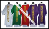 Embroidered Dalmatic in all Liturgical Shades