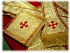 Roman Vestments - White/Gold Metallic Fabric