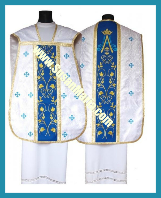 Roman Vestments in Marian Shade