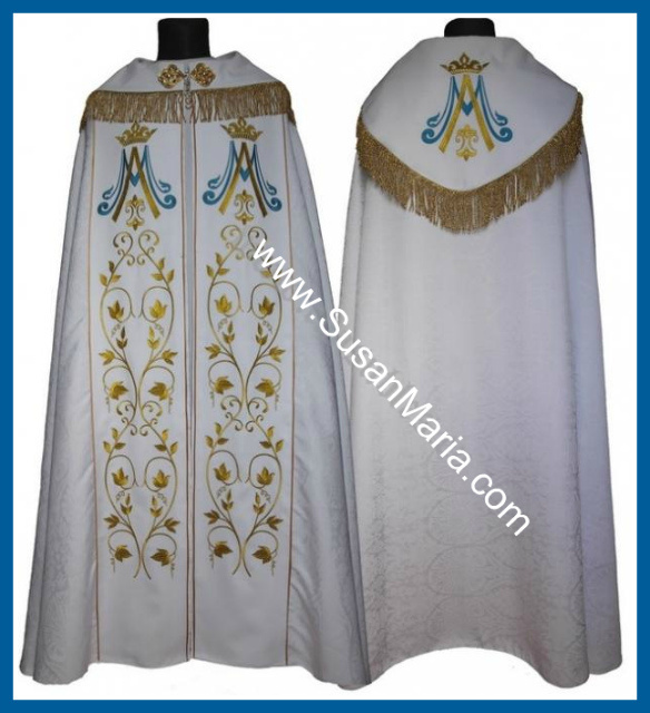 Gothic Marian Cope with Embroidery