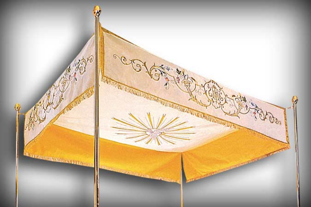 Embroidered Processional Canopy from Italy