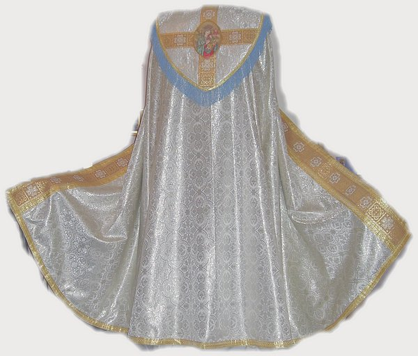Marian Benediction Set: Cope, Veil, Stole and Burse