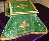 Solemn High Mass Vestments in Green with bullion embroideries: additional photos