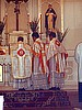 Solemn High Mass Set, White/Red/Gold