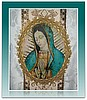 Our Lady of Guadalupe Gothic Vestments with Pillar Banding