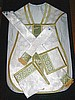 Roman Vestments in White/Gold with Nativity Emblem DESIGN2